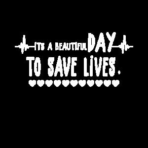 Ist Ein Wunderschöner Tag leben zu retten Arzt