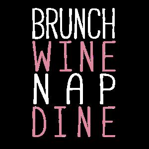 Brunch Wein nicken dine