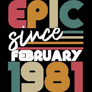 Jahrgang Februar 1981 geboren Geburtstag Retro