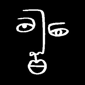 Abstraktes Gesicht - Lineart - Linework - Sketch