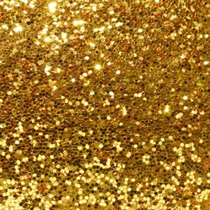 Gesichtsmaske goldfarben, mit goldfarbenen Pailletten