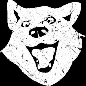 Wolf Hund Kopf Design