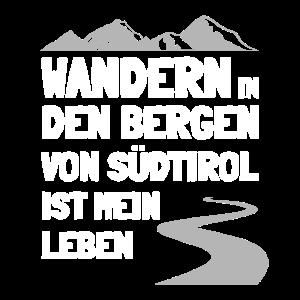 Wandern in den Bergen von Südtirol