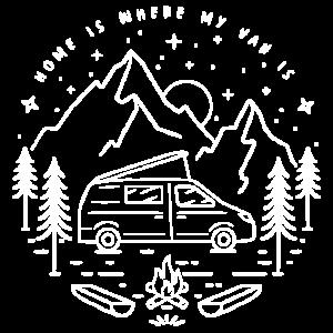 Camper Van - Home is where my Van is - Bus Camping