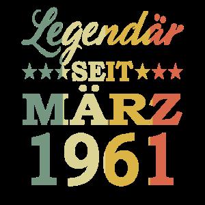 1961 Jahr Geburtstag Legendär seit März 1961