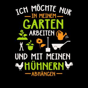 Im Garten Arbeiten und mit den Hühnern abhängen