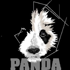 panda animal geometric symbol
