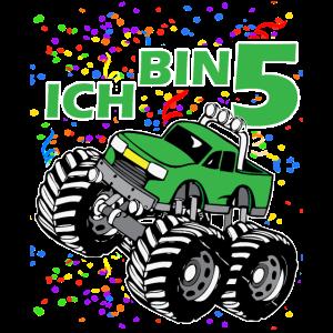 5 Jahre Junge Mädchen Geburtstag Monster Truck