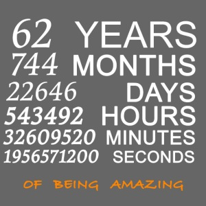 Anniversaire 62 years 744 months of being amazing