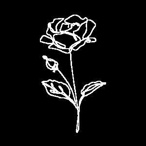 Rose LineArt - Oneline Handgezeichnete Blume