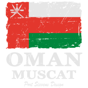 Flag of Oman - Oman Flagge - shabby look