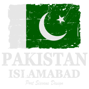Flag of Pakistan - Pakistan Flagge - shabby look