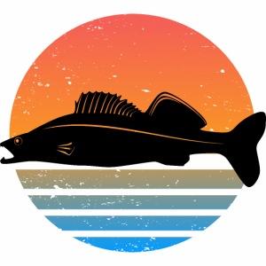 Retro Zander Angel Angler Raubfisch Geschenk Fisch