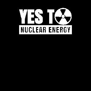 Ja zu Atomkraft Kernkraft Nuklear Atom