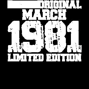 März 1981 40 Geburtstag