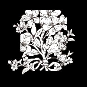 Hand gezeichnet botanische Blüte Zweige - Blume