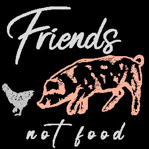 Friends not food Veganismus Vegan Vegetarier
