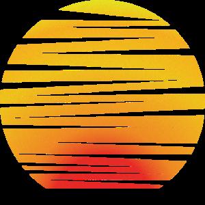 Sonne Vintage Sonnenuntergang