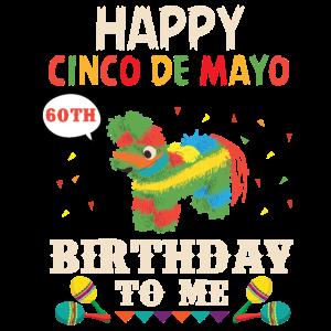 Cinco De Mayo Grafiken Alles Gute zum 60. Geburtstag Pinata