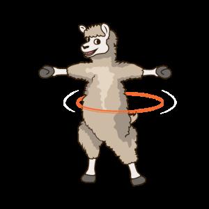 Hula Reifen Tanz Alpaka Lama