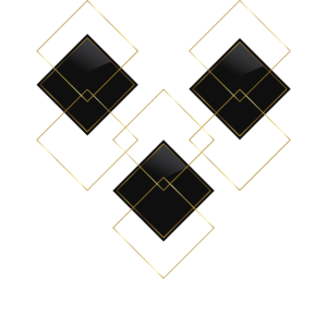 Karo Gold Schwarz Design