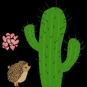 Igel Kaktus Liebe | Witziges Geburtstagsgeschenk