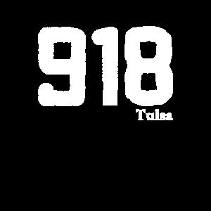Vorwahl 918 Tulsa Oklahoma Vintage Distressed