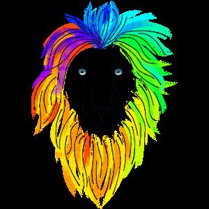 Löwenkopf farbig
