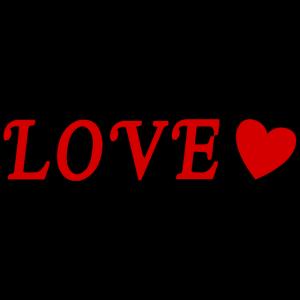 LOVE Heart Black Border