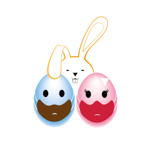 Frohe Ostern helles Design