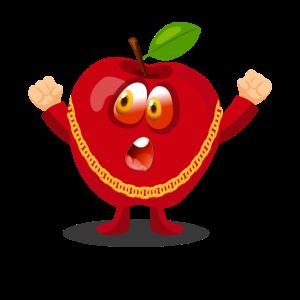 Lustiger Apple-Charakter