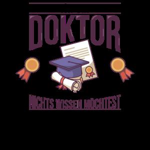 Doktoren Doktortitel Doktorand Promotion Geschenk