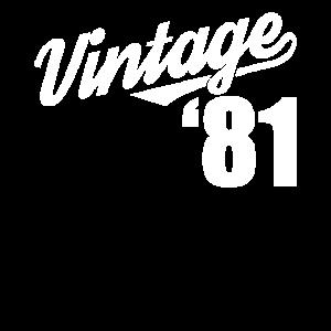 Vintage 1981 81 Geburtstag Retro Jahrgang Geschenk