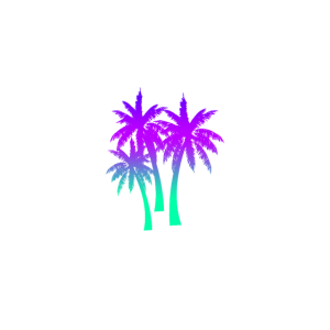Drei Palmen mit Farbverlauf