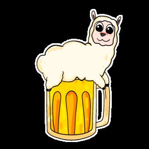 Alpaka und Bier