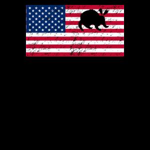 Patriotische amerikanische Flagge von Erdferkel