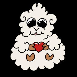 süßes Schäfchen mit Herzchen