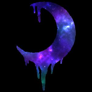 Halbmond mit Galaxie