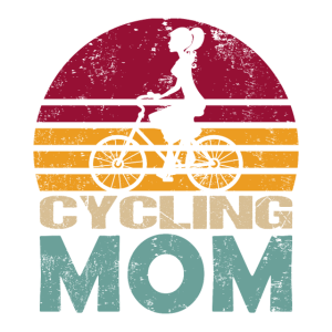 Fahrrad Mama Retro Style für Radfahrerin