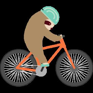 Faultier Fahrrad