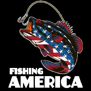 Fishing America USA Flag Fish