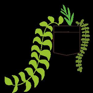 Brusttasche pocket plants