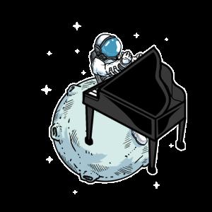 Astronaut Spielt Klavier Musik Piano Liebhaber