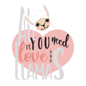 All You Need Is Love And Llamas süßes Lama Herz