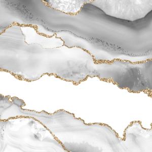 Grau weiß Marmor Achat raffinierte golden Glitter