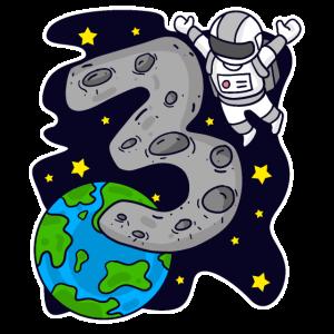 3 Kindergeburtstag Astronaut