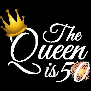 50. Geburtstag Frauen Geschenke, die Königin ist 50