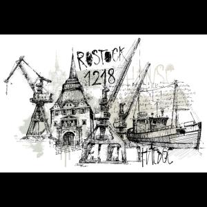 Rostock Collage Skyline