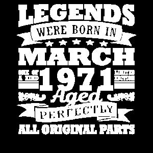 1971 Jahr Geburtstag März seit März 1971