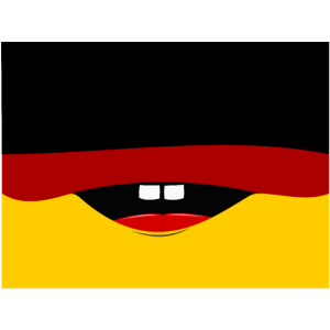 Gesichtsmaske Deutschland Flagge Comik